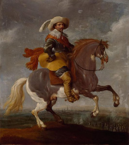Frederik Hendrik voor het beleg van Maastricht