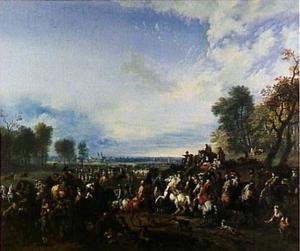 Koning-Stadhouder Willem III (1650-1702) bij een veroverde stad