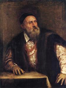 Zelfportret van Titiaan (1490-1576)