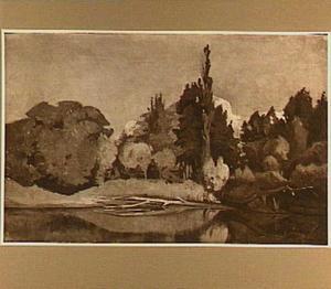 Landschap aan het water