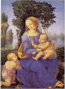 Maria en kind met de H. Johannes als kind