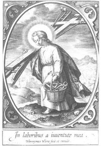 Het Christuskind dat de instrumenten van de Passie draagt