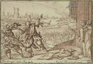 Graaf Henry, een ongelovige monnik uit het klooster vluchtend