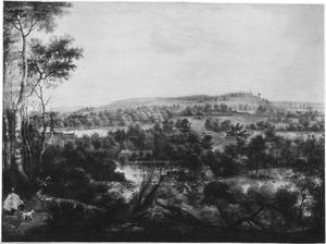 Weids landschap met St. Hubertus
