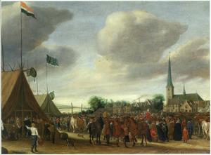 De paardenmarkt in Valkenburg bij Leiden