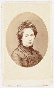 Portret van Justine Christine van Meurs (1816-1896)