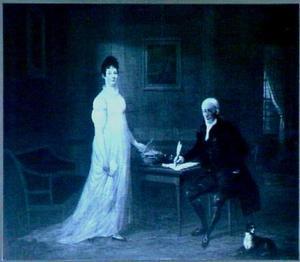 Dubbelportret van Cypriaan Gerard van Hengst (1776-1826) en Charlotte Strick van Linschoten (1778-1850)