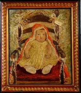Portret van koningin Beatrix (1938) als kind