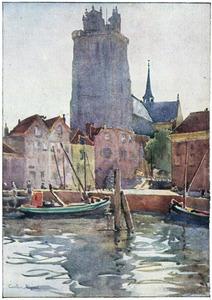 Dordrecht, de oude haven en de kerk