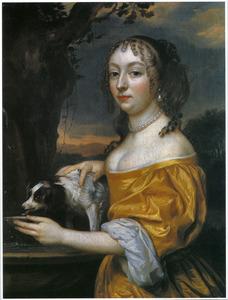 Portret van een vrouw, mogelijk Henriette Catharina van Oranje-Nassau (1637-1708)