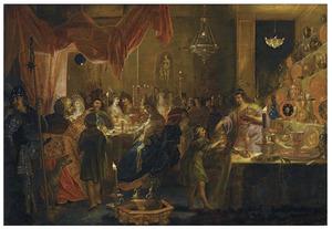 Het feest van Belsassar (Daniël 5: 5-7)