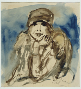 Portret van een vrouw met hoed