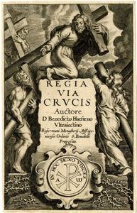 Titelpagina voor B. Van Haeften, Regia Via Crucis, Antwerpen 1635
