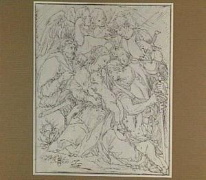 Ontmoeting van de Heilige Familie met struikrovers tijdens de vlucht naar Egypte