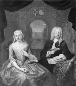 Dubbelportret van Gualtherus Petrus Boudaen (1704-1781) en Catharina Margaretha Romswinckel (1704-1750)