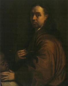 Zelfportret van Augustinus Terwesten (1649-1711)