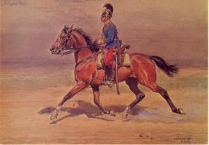 Dragonder van het Oostenrijkse leger