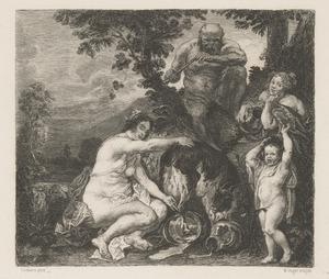 De jeugd van Jupiter en de geit Amalthea