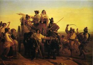 L'Arrivée des Moissonneurs dans les marais Pontins