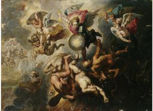 Val van de opstandige engelen (Openbaring 12:7-9)