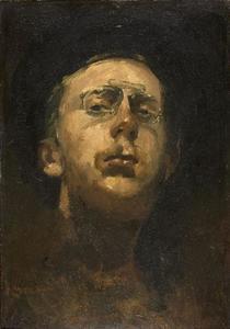 Zelfportret met pince-nez
