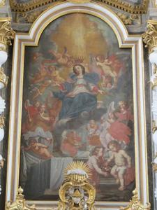 De ten hemelopneming van de Maagd Maria door engelen