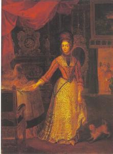 Keurvorstin Anna Maria Luisa van de Palts in Duits kostuum