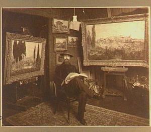Hendrik van Bloem in zijn atelier
