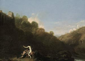 Zuidelijk landschap met Diana en haar nimfen