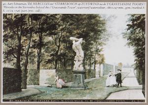 Het sterrenbos van het Huis Zuydwind, op de achtergrond de toren van 's-Gravezande