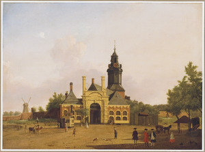 Gezicht op de Haarlemmerpoort in Amsterdam