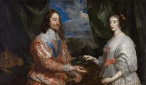 Dubbelportret van koning Karel I Stuart (1600-1649) en Henriëtta Maria de Bourbon, koningin van Engeland (1609-1669)