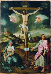 De Kruisiging met Maria en Johannes