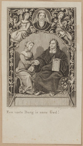 Portret van Maarten Luther (1483-1546) en een vrouw, mogelijk Katharina von Bora (1499-1552) en portret van een onbekende vrouw