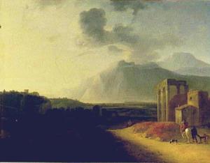 Landschap met de vulkaan Stromboli