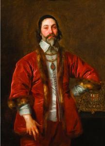 Portret van Sir Walter Crane (?-?), kanselier van de Orde van de Kousenband