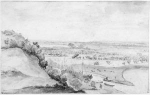 De monding van de Grift gezien vanaf de Heimenberg bij Rhenen