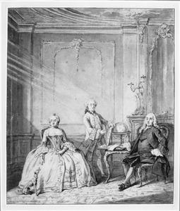 Portret van Gerard Deutz (1699-1759) en zijn gezin