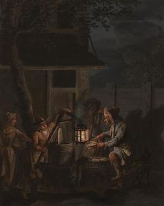 Haringverkoper, bij nacht