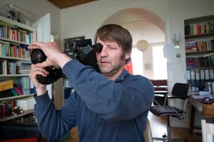 Jeroen Eisinga aan het werk