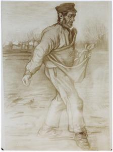 De zaaier, naar rechts lopend