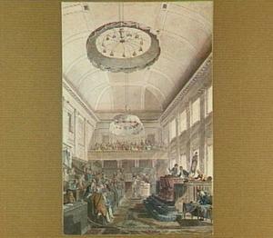 Den Haag, De Nationale Vergadering op het Binnenhof in de voormalige Balzaal van stadhouder Willem V, in 1796