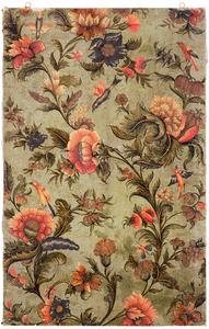 Bloemenranken met draperie