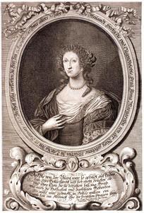 Portret van Anna Margaretha Uhlich (1657-1687), echtgenote van Engelbert von der Burg