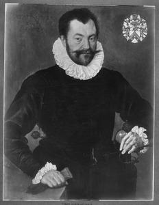 Portret van Willem Hanneman (1546-voor oktober 1613) op 36-jarige leeftijd, echtgenoot van Maria van Bodegem (1559/60-1598)