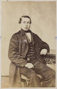 Portret van een jonge man, mogelijk een zoon van Tjepke Klazes Wassenaar (1820-1891) en Pietje Gijsberts Postma (1818-1884)