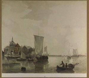 Dordrecht, de Rietdijkse poort aan de Merwede