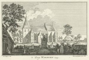 Het dorp Warbeyen bij Kleef