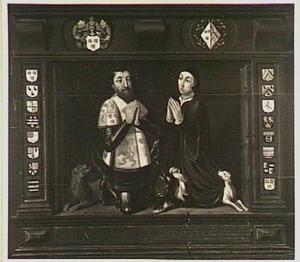 Dubbelportret van Jeronimus van Serooskerke (1500-1571) en Eleonora van Micault (1513-1552)