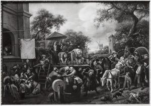 De kwakzalver op het dorpsplein